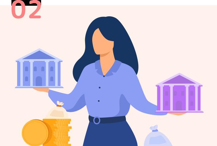 750行以上の金融機関、16,000以上のローンプランから最適な借入先を選定
